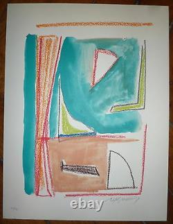 Rafols Casamada Alberto Lithography Signed Abstract Art Abstraction