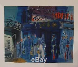 Raoul Dufy Lithograph Mourlot Reception English Admiral Pierre Lévy P 417 1969