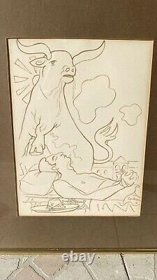 Rare Jean Cocteau The Death Of The Matador Signed Lithography, Artist Event
