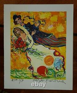 Raya Sorkine Ea Lithography Numbered And Signed Marriage To Violin Ea 2/7