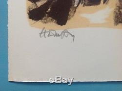 Robert Helman (1910-1990) Lithograph Signed In 1965 Pierre Soulages Hartung