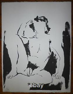 Robert-louis Nicoïdski Original Lithograph Signed Polish Switzerland Abstraction