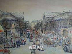 Rolf Rafflewski Paris Les Halles' Lithographie Original Signed In Pencil