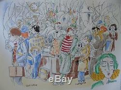 Romanin Jean Moulin Bar At Montparnasse Litho Origninale Rare
