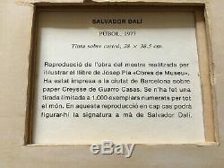 Salvador Dali Lithograph Signed Pubol 1977