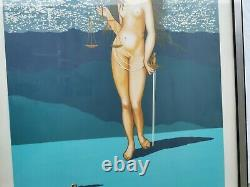 Salvador Dali Table Lithography Sign Divinite Of Justice Non-commercial 8