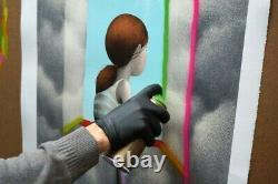 Seth Globepainter Julien Malland Little Girl At The Window At Window Coa -banksy