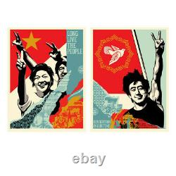 Shepard Fasy Obey Long Live The People & Revolution In Our Time Set S / N