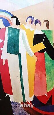 Sonia Delaunay Lithograph Poster 1986 Rare/ Damascus/ Art/1924/ Deco