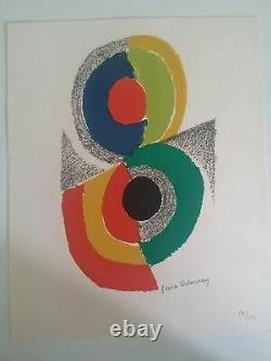 Sonia Delaunay Rhythms And Colors Vi, 1971 Original Lithography Signed At