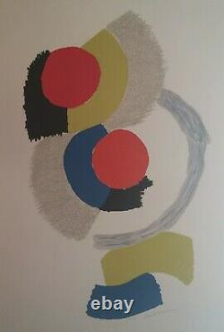 Sonia Delaunay Rythmes, Original Lithograph Signed In Pencil