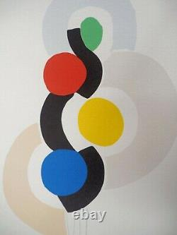 Sonia Delaunay (after) Rhythm And Dance Lithography Signed, 600ex