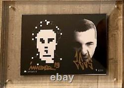 Space Invader Signed Postcard - @nonymous DVD