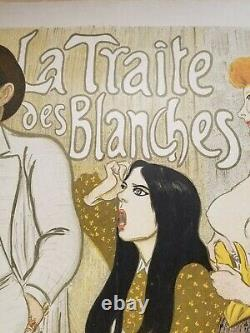 Steinlen T.a. The Trait Des Blancs 1899 Displays Lithographs In Colours