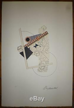 The Yaouanc Alain Numbered Lithograph 1969 Art Abstract Abstraction