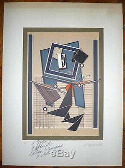 The Yaouanc Alain Numbered Lithograph Art Abstraction Abstract