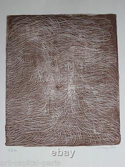 Tobey Mark Lithography 1970 Signed In Pencil Handsigned Numb Eda Eda Lithograph