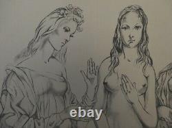 Tsuguharu Foujita The Three Graces Original Lithograph Signed