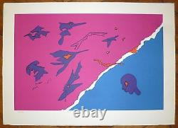 Turcato Giulio Lithography Signed Rome Paris Abstract Art Abstraction