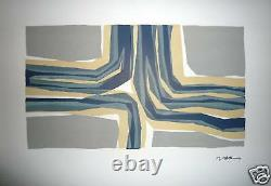 Ubac Raoul Original Lithography On Velin Art Abstract Abstraction Belgium