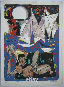 Venard Claude Lithograph Signed Au Crayon Num/300 Handsigned Numb Lithograph
