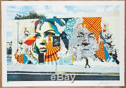 Vhils X Shepard Fairey (obey) American Dreamers Signed Numbered / 450