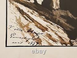 Victor Hugo Rare Original Lithography -1857 Guernsey Island