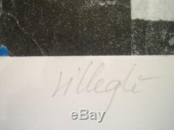 Villegle Jacques Original Lithograph 50 Rue Turbigo