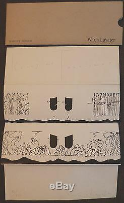 Warja Lavater Book Lithograph Signed Kries Und Tourismus Titled Hand