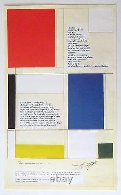 Werner Lambersy Erik Koch Lithography Tribute Mondrian Michel Seuphor P1333