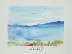 Zao Wou-ki Ibiza, Signed Lithograph, 2007