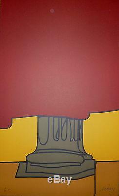 Adami Valerio Lithographie signée numérotée Abstraction figuration narrative