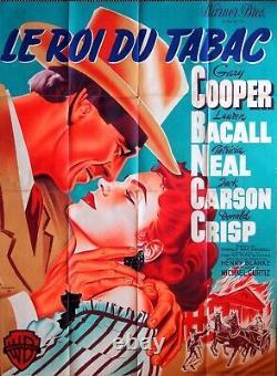 Affiche ciné Le roi du tabac litho originale signée Pigeot 1950 Garry Cooper