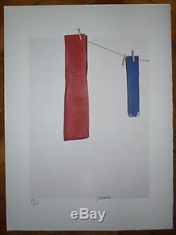 Alonso Angel Lithographie originale signée art abstrait abstraction Espagne
