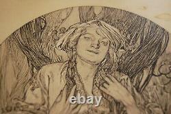 Alphons Mucha lithographie originale