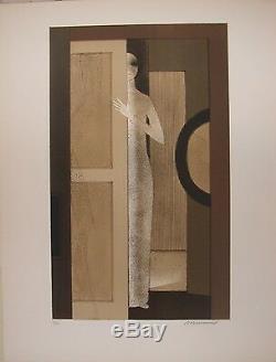 Andre MINAUX Lithographie Originale Signée numérotée sur velin art deco moderne