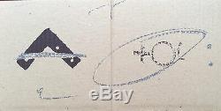 Antoni Tapies Lithographie originale angle et signes 1980