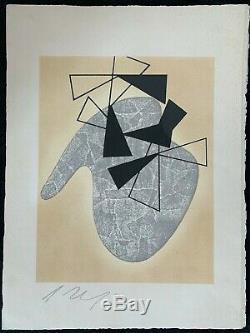 Arp Jean Hans Lithographie Originale Signee Au Crayon