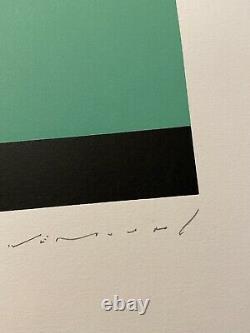 Aurélie Nemours Signé Litho 6/99 56x38cm Bon État