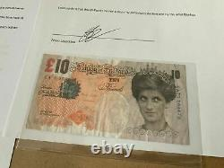 Authentic Banksy di Faced Tenner +letter of Lazaride Sign NO jonone obey arsham