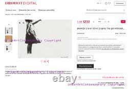 BANKSY Original M Arts Edition GRANDE Lithographie 5065cm Signée Numérotée /150