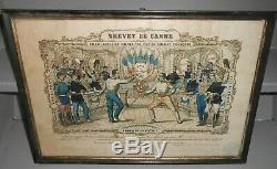 BREVET de CANNE sous verre fait à Marseille 1876 63e régiment de ligne