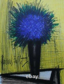 BUFFET Bernard Le bouquet bleu LITHOGRAPHIE originale signée, MOURLOT, 1967