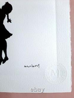 Banksy Original M Arts Edition Lithographie Signée Numérotée /150 CADRE INCLUS