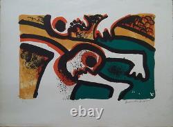 Bengt LINDSTROM (1925-2008) lithographie Composition P1840
