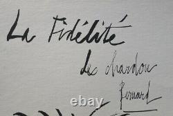 Bernard BUFFET Le chardon GRAVURE signée #1961 #197ex