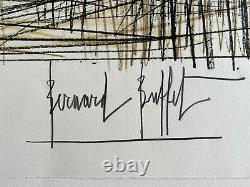 Bernard BUFFET Lithographie Jeux de Dames 1970 Signée à la main