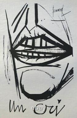 Bernard BUFFET Un cri GRAVURE signée #1961 #197ex
