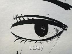 Bernard BUFFET Vos yeux GRAVURE signée, Edition limitée 197ex, 1961