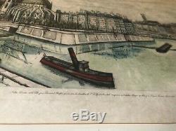 Bernard Buffet Lithographie signée numerotée Notre Dame et LÎle de la cité